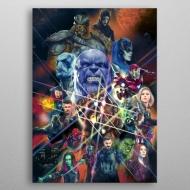 Marvel - Poster en métal Infinity War Characters 10 x 14 cm