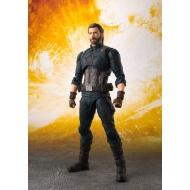 Avengers Infinity War - Figurine S.H. Figuarts Captain America & Tamashii Effect Explosion 16 cm