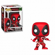 Marvel Comics - Figurine POP! Bobble Head Deadpool (Candy Canes) 9 cm