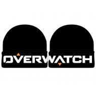 Overwatch - Bonnet Cuff Black Knit Logo