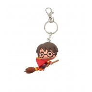Harry Potter - Porte-clés caoutchouc Harry Potter  & Broomstick 7 cm