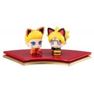 Naruto Boruto Next Generation Petit Chara Land - Pack 2 trading figures Oyako Manekineko Dattebasa!