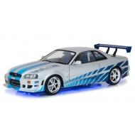 Fast & Furious 2 - Réplique métal 1/18  Brians Nissan Skyline GT-R34 1999