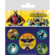 My Hero Academia - Pack 5 badges Characters