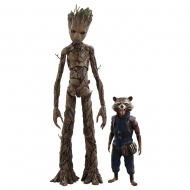 Les Gardiens de la Galaxie - Pack 2 figurines Movie Masterpiece 1/6 Groot & Rocket 16 et 30 cm