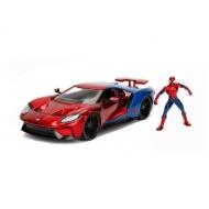 Marvel - Réplique métal 1/24 Ford GT 2017 avec figurine Spider-Man