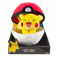 Pokémon - Peluche Zipper Pikachu with Pokeball 20 cm