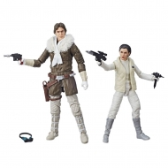 Star Wars Episode V Black Series - Figurines 2018 Leia & Han (Hoth) Convention Exclusive 15 cm