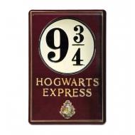 Harry Potter - Panneau métal 3D Platform 9 3/4 20 x 30 cm