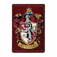 Harry Potter - Panneau métal 3D Gryffindor 20 x 30 cm