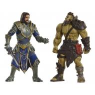 Warcraft - Pack 2 figurines Lothar vs. Horde Warrior 6 cm