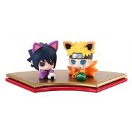 Naruto Shippuden - Pack 2 trading figures Petit Chara Land Maneki Kyubi Dattebayo! 5 cm