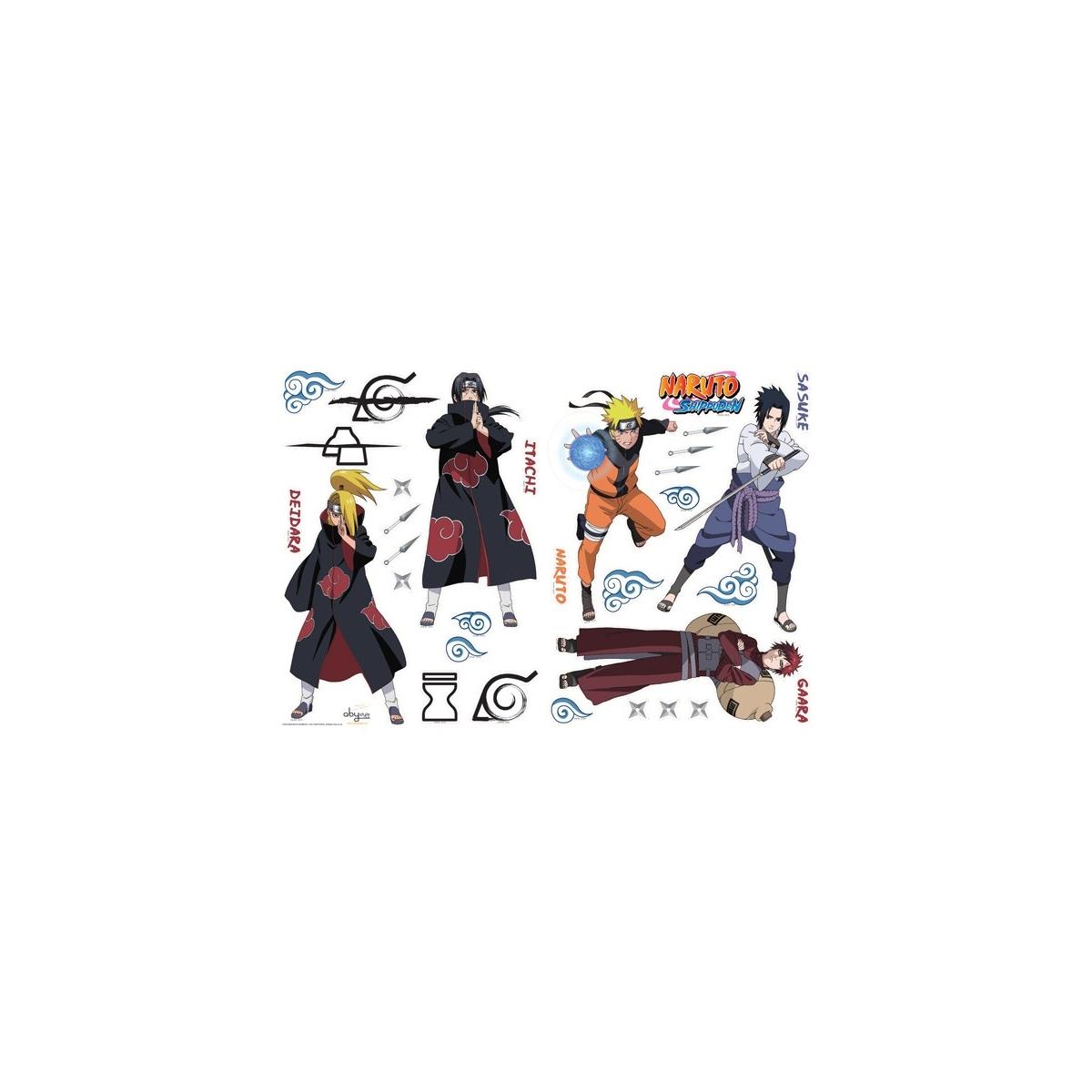 Naruto planche de stickers muraux shippuden 1