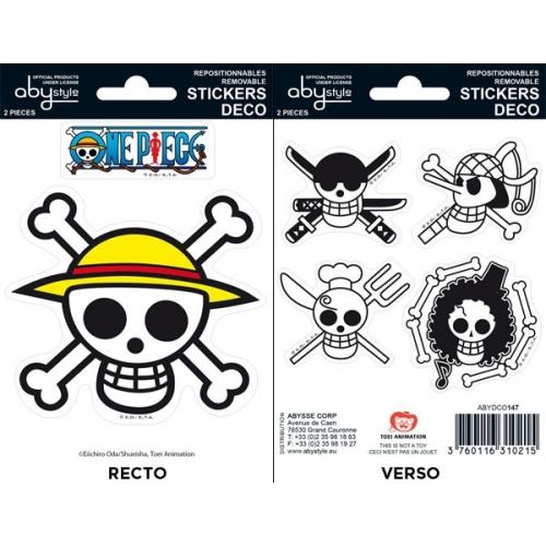 ONE PIECE - Planche de mini-stickers (16 X 11cm) Pirates Flag