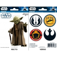 STAR WARS - Planche de mini-stickers (16x11) -  Yoda