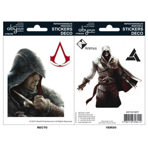 ASSASSIN'S CREED - Stickers - 16x11cm/ 2 planches - Ezio/Altaïr