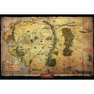 THE HOBBIT - Poster carte Terre du Milieu roulé filmé (98x68)