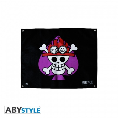 ONE PIECE - Drapeau Ace (50x60)