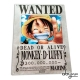 ONE PIECE - Plaque métal Luffy Wanted (28x38)