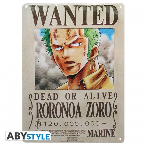 One Piece - Plaque métal