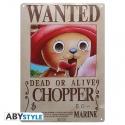 One Piece - Plaque métal Chopper Wanted