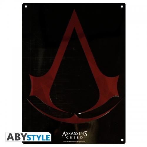 ASSASSIN'S CREED - Plaque métal Crest