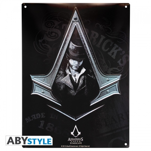 ASSASSIN'S CREED - Plaque métal Syndicate
