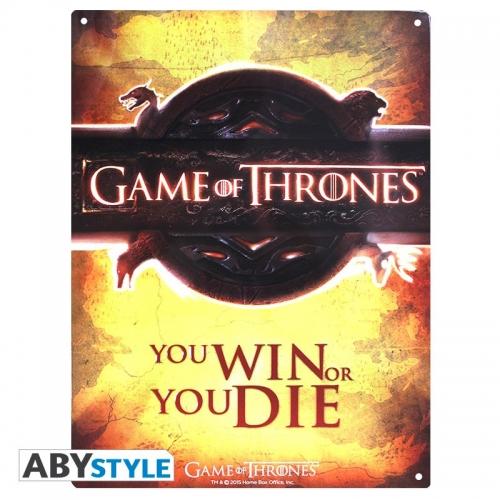 GAME OF THRONES - Plaque métal opening logo