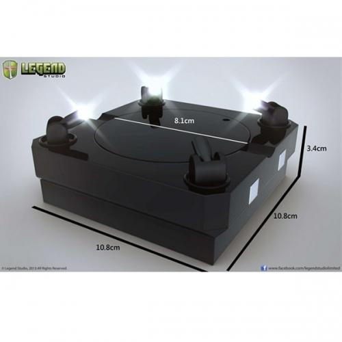 SOCLE DE PRESENTATION - Socle Noir rotatif avec Lumieres