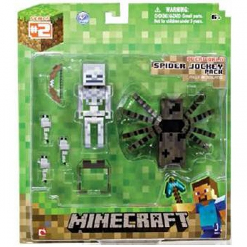MINECRAFT - Figurine Coffret Squelette et Araignée