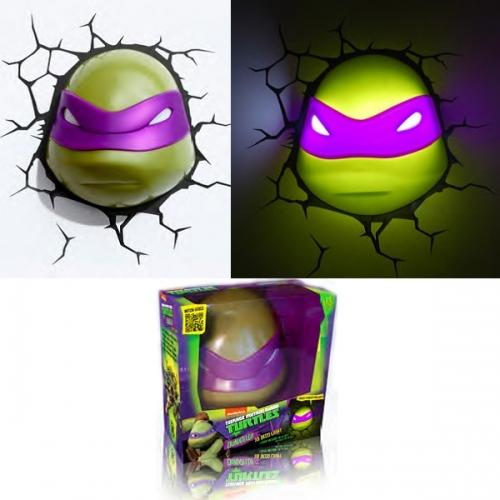 Tortues ninja lampe d corative 3d donatello figurine discount - Mechant tortues ninja ...