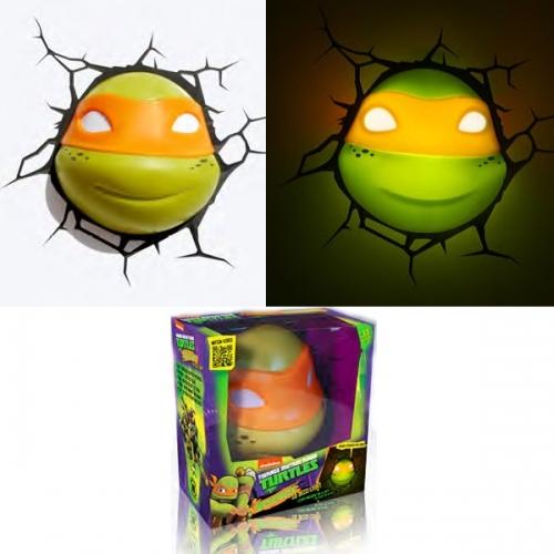 Tortues ninja lampe d corative 3d michelangelo figurine discount - Mechant tortues ninja ...