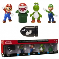 NINTENDO - Pack de 5 Mini figurines 6cm Wave 1