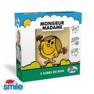 MONSIEUR MADAME - Bois - 4 cubes