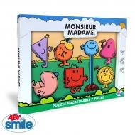 MONSIEUR MADAME - Bois - Puzzle encastrable 7 pièces