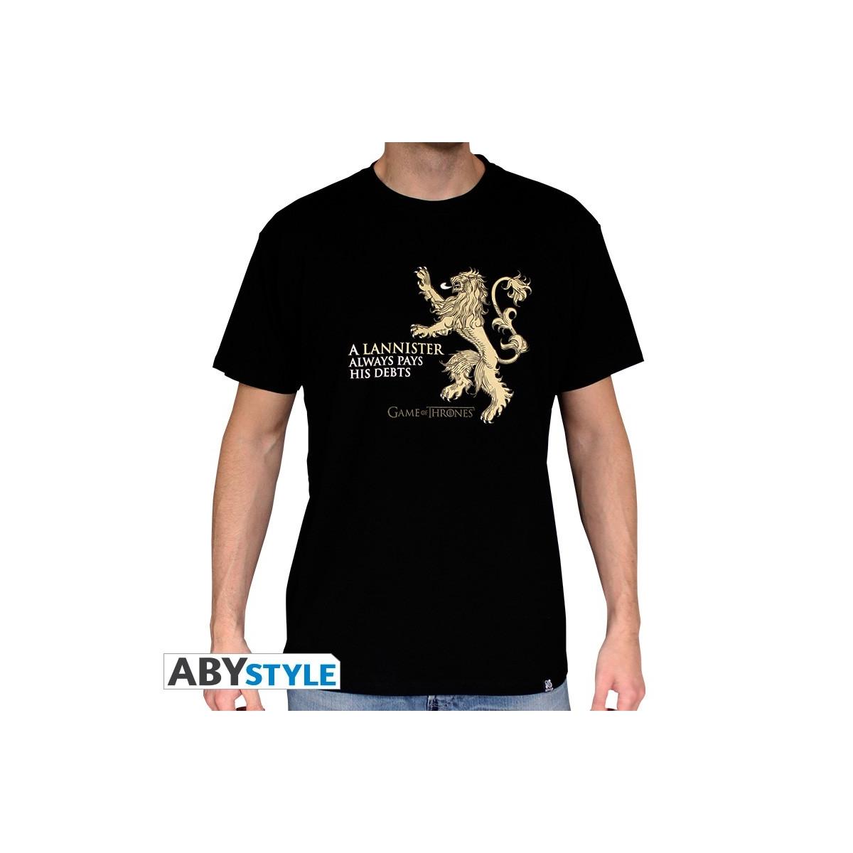 Carrelage Design tapis souris xxl : GAME OF THRONES - Tshirt Lannister homme MC black - basic ...