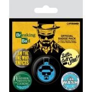 Breaking Bad - Pack 5 badges Heisenberg Flask