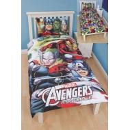 Marvel Avengers - Parure de lit réversible 3D Team 135 x 200 cm