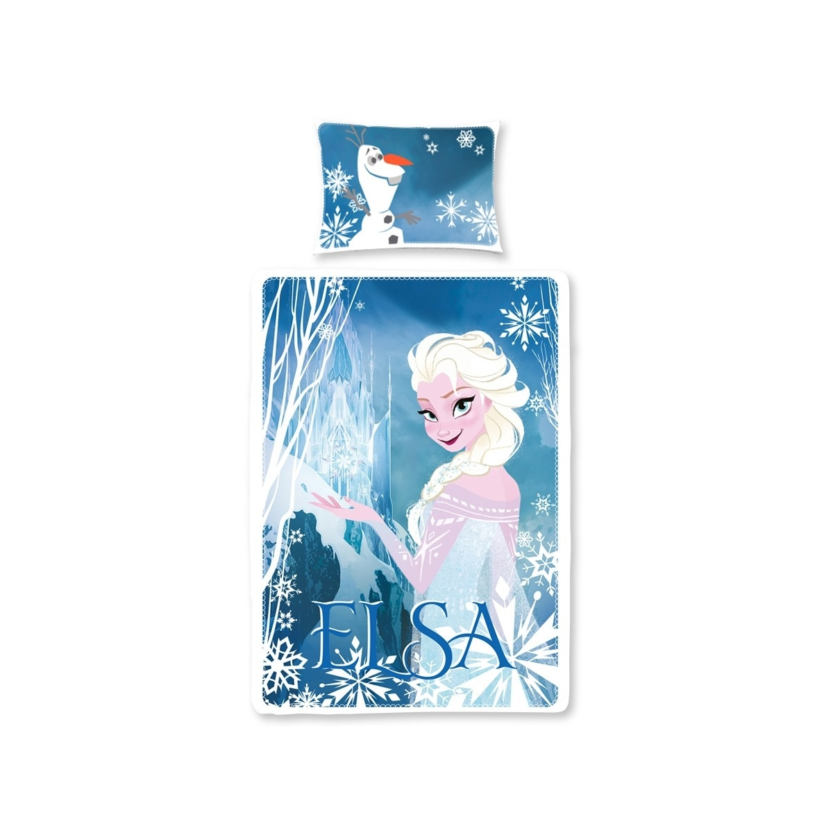 la reine des neiges parure de lit elsa 135 x 200 cm figurine discount. Black Bedroom Furniture Sets. Home Design Ideas