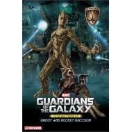 Les Gardiens de la Galaxie - Maquette Plastic Model Kit 1/9 Groot & Rocket Raccoon 20 cm