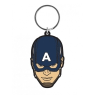 Avengers (Marvel) - Porte-Clés caoutchouc Captain America 6 cm