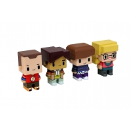 The Big Bang Theory- Pack 4 trading figurines Pixel 7 cm