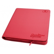 Ultimate Guard - 12-Pocket QuadRow ZipFolio XenoSkin Rouge