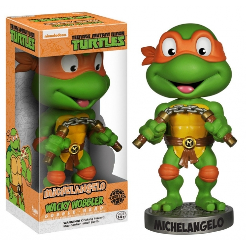 Les Tortues Ninja - Figurine Wacky Wobbler Bobble Head Michelangelo 15 cm