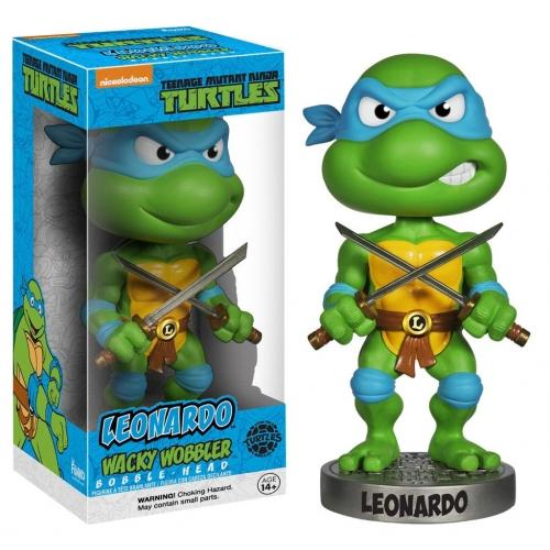 Les Tortues Ninja - Figurine Wacky Wobbler Bobble Head Leonardo 15 cm