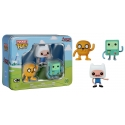 Adventure Time - Pack 3 figurines Pocket POP! Vinyl Tin Finn, Jake, BMO 4 cm