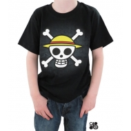 ONE PIECE - Tshirt Skull with map enfant MC black - basic