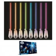 STAR WARS - Sabre Laser Déco Lumineuse Deluxe 8 Couleurs