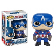 Captain America - Figurine POP! Bobble Head Captain America 10 cm