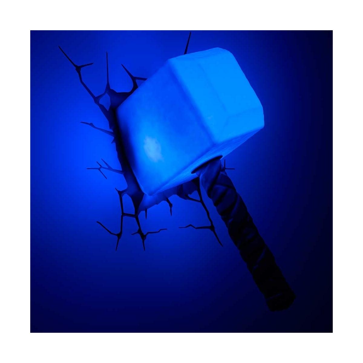 marvel comics lampe 3d led thor hammer figurine discount. Black Bedroom Furniture Sets. Home Design Ideas